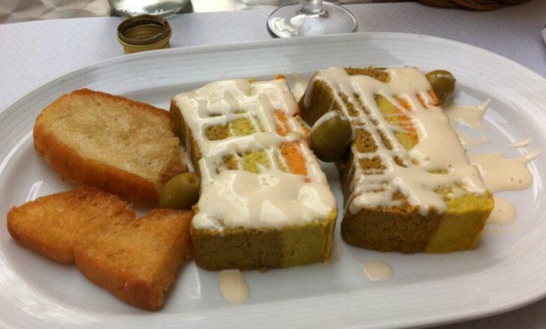 Elegante pastel de verduras con masa de quinoa y boniatos 1