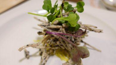 Ensalada de fideos con brotes y salsa de soja 2