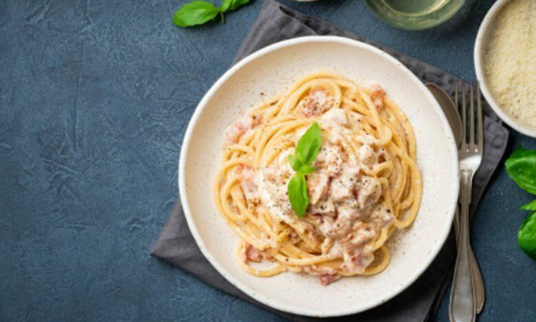 Espaguetis al cava, receta de pasta de lujo fácil de preparar 1