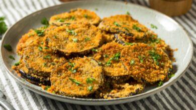 Libritos de berenjena rellenos de pollo, receta de una cena fácil 6