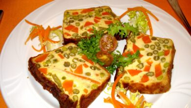 Pastel francés de verduras en capas 5