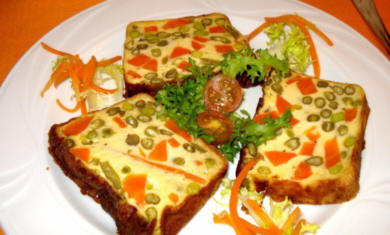 Pastel francés de verduras en capas 1
