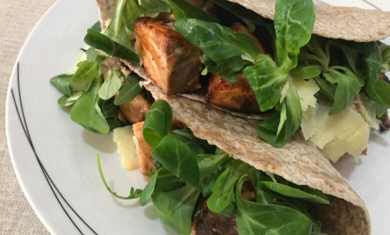 Tacos de salmón, receta casera 1